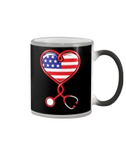 Patriotic Nurse USA Flag Shirt Nursing 4th July  Color Changing Mug thumbnail