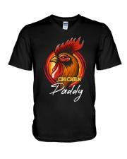 Chicken Daddy Chicken Dad Farmer Farmer Father Day V-Neck T-Shirt thumbnail