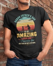 Happy Father's Day to Amazing Step-Dad Mom Classic T-Shirt apparel-classic-tshirt-lifestyle-26