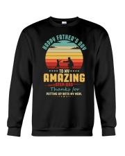 Happy Father's Day to Amazing Step-Dad Mom Crewneck Sweatshirt thumbnail