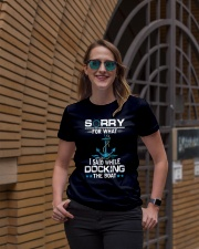 Boating Sorry For What Said While Docking The Boat Premium Fit Ladies Tee lifestyle-women-crewneck-front-2