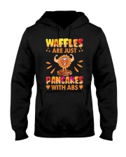 Waffles Are Just Pancakes With Abs Funny Hooded Sweatshirt thumbnail