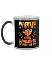 Waffles Are Just Pancakes With Abs Funny Color Changing Mug color-changing-left
