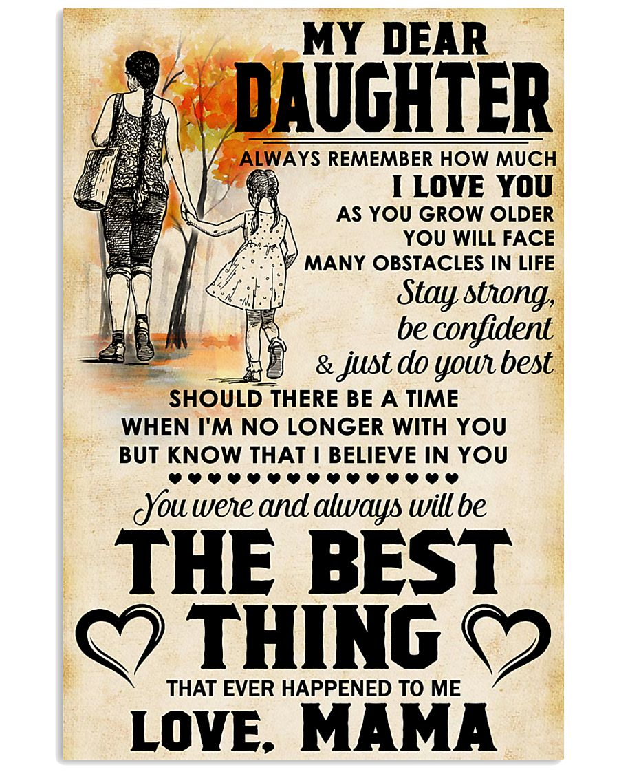 MY DEAR DAUGHTER - LOVE MAMA 11x17 Poster