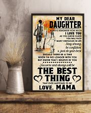 MY DEAR DAUGHTER - LOVE MAMA 11x17 Poster lifestyle-poster-3