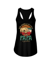 Being Grandpa s an honor being Papa is Priceless Ladies Flowy Tank thumbnail