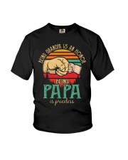 Being Grandpa s an honor being Papa is Priceless Youth T-Shirt thumbnail