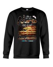 Girlfriend American Flag Independence Day  Crewneck Sweatshirt thumbnail