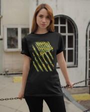Funny Sunflower American Flag July 4Th Women Men Classic T-Shirt apparel-classic-tshirt-lifestyle-19