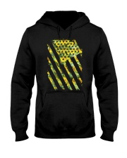 Funny Sunflower American Flag July 4Th Women Men Hooded Sweatshirt thumbnail