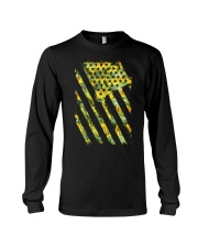 Funny Sunflower American Flag July 4Th Women Men Long Sleeve Tee thumbnail