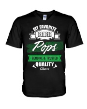 People Call Me Pops Genuine Trusted Father's Day V-Neck T-Shirt thumbnail