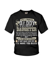 Proud Daddy of a Pretty Daughter Father's Day Youth T-Shirt thumbnail