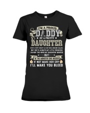 Proud Daddy of a Pretty Daughter Father's Day Premium Fit Ladies Tee thumbnail