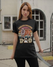 English Bulldog Dad For Fathers Day Dog Owner Classic T-Shirt apparel-classic-tshirt-lifestyle-19