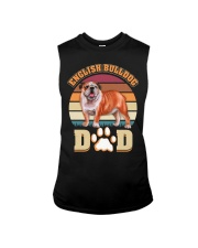 English Bulldog Dad For Fathers Day Dog Owner Sleeveless Tee thumbnail