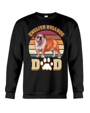 English Bulldog Dad For Fathers Day Dog Owner Crewneck Sweatshirt thumbnail