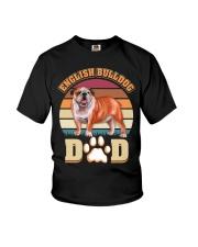 English Bulldog Dad For Fathers Day Dog Owner Youth T-Shirt thumbnail
