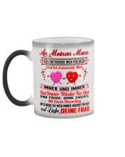 AN MEINEN MANN - DEINE FRAU Color Changing Mug color-changing-left