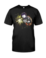 Welder AmericanFlag USA Patriotic Welder Classic T-Shirt front