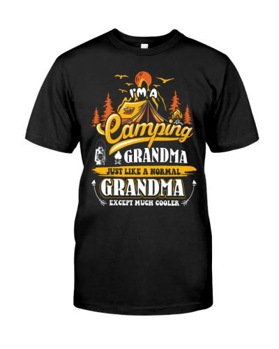 Camping Grandma Outdoors Camper Mountain Camper