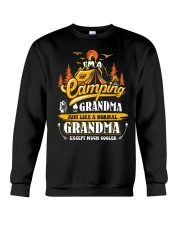 Camping Grandma Outdoors Camper Mountain Camper Crewneck Sweatshirt thumbnail
