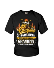 Camping Grandma Outdoors Camper Mountain Camper Youth T-Shirt thumbnail