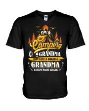 Camping Grandma Outdoors Camper Mountain Camper V-Neck T-Shirt thumbnail
