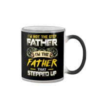Not Step Father The Father Stepped Up Fathers Day Color Changing Mug thumbnail