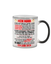 AN MEINEN MANN - ICH LIEBE DICH Color Changing Mug color-changing-right