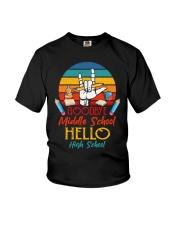 Goodbye Middle School Hello HighSchool Graduation  Youth T-Shirt thumbnail