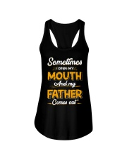 Sometimes I Open My Mouth and My Father Comes Out Ladies Flowy Tank thumbnail