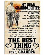 MY DEAR GRANDDAUGHTER - Love GRANDPA 11x17 Poster front