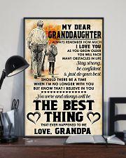 MY DEAR GRANDDAUGHTER - Love GRANDPA 11x17 Poster lifestyle-poster-2