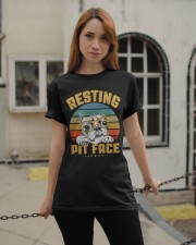 Pit Bull Lover Gift Vintage Resting Pit Face  Classic T-Shirt apparel-classic-tshirt-lifestyle-19