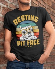 Pit Bull Lover Gift Vintage Resting Pit Face  Classic T-Shirt apparel-classic-tshirt-lifestyle-26