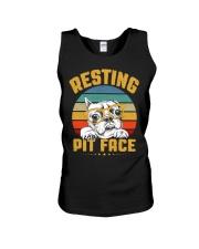 Pit Bull Lover Gift Vintage Resting Pit Face  Unisex Tank thumbnail