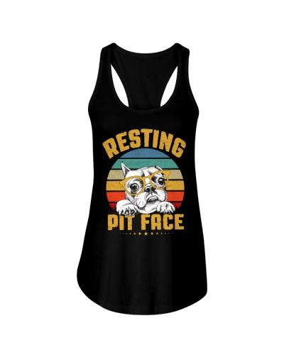 Pit Bull Lover Gift Vintage Resting Pit Face
