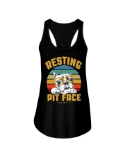 Pit Bull Lover Gift Vintage Resting Pit Face  Ladies Flowy Tank thumbnail