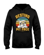 Pit Bull Lover Gift Vintage Resting Pit Face  Hooded Sweatshirt thumbnail