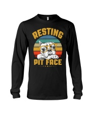 Pit Bull Lover Gift Vintage Resting Pit Face  Long Sleeve Tee thumbnail