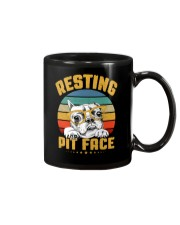 Pit Bull Lover Gift Vintage Resting Pit Face  Mug thumbnail