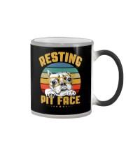 Pit Bull Lover Gift Vintage Resting Pit Face  Color Changing Mug thumbnail