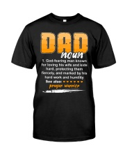 Christian Dad Definition Fathers Day Classic T-Shirt front