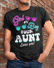 Womens Gender Reveal Girl or Boy Aunt loves you Classic T-Shirt apparel-classic-tshirt-lifestyle-26