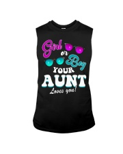 Womens Gender Reveal Girl or Boy Aunt loves you Sleeveless Tee thumbnail