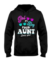 Womens Gender Reveal Girl or Boy Aunt loves you Hooded Sweatshirt thumbnail