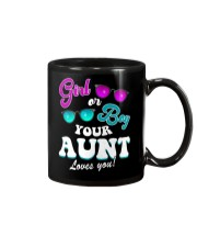 Womens Gender Reveal Girl or Boy Aunt loves you Mug thumbnail