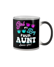 Womens Gender Reveal Girl or Boy Aunt loves you Color Changing Mug thumbnail