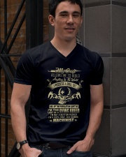 Machinist Shirt My Craft Allows to Build Anything V-Neck T-Shirt lifestyle-mens-vneck-front-2